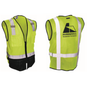Safety Work Vest With Logo - Neon Yellow - Size L/XL