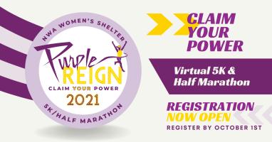 NWA Women's Shelter Purple Reign 5k/Half Marathon